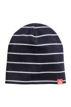 Jersey hat - Black/Striped - Kids | H&M 1